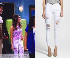Austin & Ally: Season 4 Episode 12 Ally's White Ripped Skinny Jeans