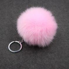 Fluffy Pompon Fur Ball Key Chain For Women Faux Rabbit Fur Pompom Keychain Trinket Charm Bag Key Ring Holder Jewelry Gift
