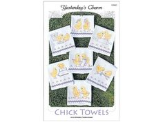 Yesterday's Charm Ironon Embroidery Transfers by DebiCreations, $6.99