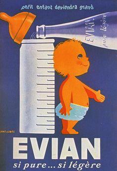 evian, si pure... si légère #evian #liveyoung #poster #vintage