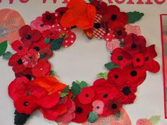 Our New Theme: War Game Wreath - Each child makes a poppy. Add to a cardboard wreath with a few leaves. Craft Activities For Kids, Crafts For Kids, Arts And Crafts, Poppy Wreath, Remembrance Day Poppy, Poppy Craft, Anzac Day, Classroom Crafts, Beavers