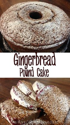 Extremely soft and fluffy Gingerbread Pound Cake from One Acre Vintage Homestead #christmasrecipe #gingerbread