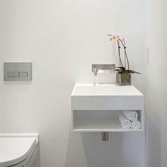 compact basin for a powder room. #bathroombasins