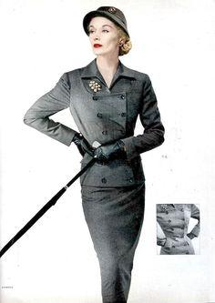 Lisa Fonssagrives, photo by Erwin Blumenfeld, Vogue 1951