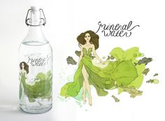 Mineral Water High Fashion Campaign by Erin McManness, via Behance