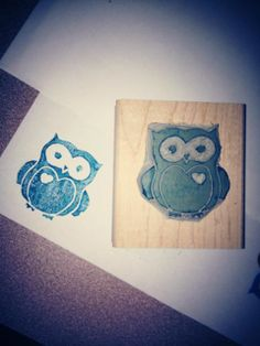 Undefined Stampin' Up! carving - owl image www.facebook.com/NicoleWilsonStampinUp alright for my first go at it :-)