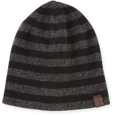 Penguin Ashmore Striped Knit Beanie Hat ($13) ❤ liked on Polyvore featuring accessories, hats, true blue, penguin hat, knit hat, beanie cap, stripe hat and striped beanie