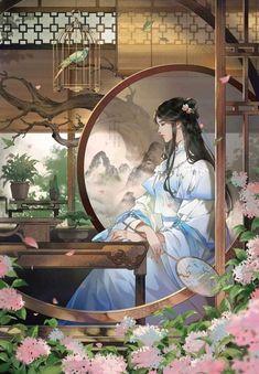 Anime Art Girl, Manga Art, Chinese Drawings, Art Asiatique, Art Japonais, Beautiful Fantasy Art, China Art, Anime Scenery, Fantasy Artwork