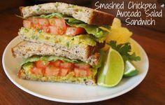Smashed Chickpea & Avocado Salad Sandwich, get the recipe here: http://www.peta.org/living/food/smashed-chickpea-avocado-salad-sandwich/ #vegansandwich #healthyvegan #healthyrecipes