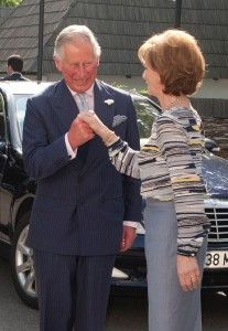 His Royal Highness the Prince of Wales is currently in Romania and was received by Crown Princess Margareta of Romania and Prince Radu during the start of his latest visit to the country he is so fond of. Visit Romania, British Monarchy, Prince Of Wales, Prince Charles, Suit Jacket, Reyes, Descendants, Country, Beauty