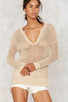 Nasty Gal Ain't Seen Nothin' Net Sweater | Shop Clothes at Nasty Gal!