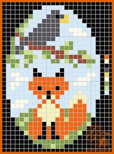 fox and crow beading pattern