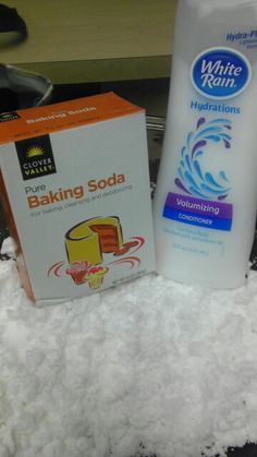 How to make snow 3 cups baking soda 1/2 cup conditioner Mix together