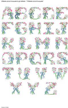 Alfabeto piccoli bouquets