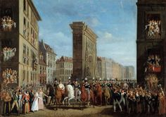 Passage of Allied Sovereigns in front of the Porte Saint-Denis, 31 March 1814 by Jean Zippel