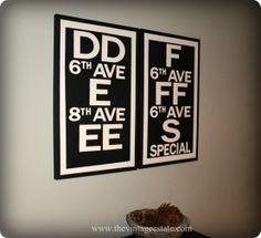diy subway signs