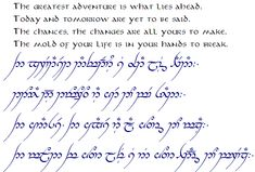 The Hobbit, The Lord of the Rings, and Tolkien - The One Ring • View topic - READ ONLY-Official TENGWAR Transcriptions(and TATTOOS)-III