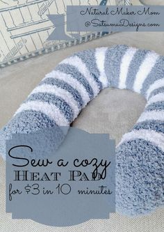 Sock bean bag heating pad-Holy cow how easy this would be and so comfy and soft...why didn't we think of this?!?!?