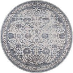Nicole Miller Kenmare Oriental Gray/Blue Area Rug Rug Size: Runner x Round Area Rugs, Blue Area Rugs, Blue Ivory, Blue Grey, Gray, Miller Homes, Area Rug Sizes, Under The Lights, Rugs Online
