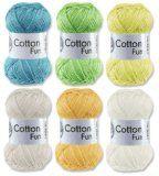 http://ift.tt/1G8qm5F Gründl Cotton Fun Häkelgarn Schulgarn 100% Baumwolle SET Pastell Mischung 6 Stück 300 Gramm