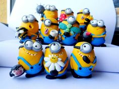 I have to make myself a minion or two! Polymer Clay Figures, Polymer Clay Miniatures, Fimo Clay, Polymer Clay Projects, Polymer Clay Charms, Polymer Clay Creations, Polymer Clay Art, Clay Crafts, Fun Crafts