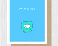Funny Miss You Card Lion Pun Missing Thinking Of Goodbye Farewell Moving Away…