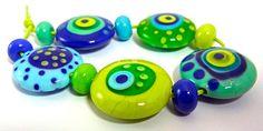 Fresh  Handmade Lampwork Glass Bead Set 11 by by AnnesGlassJewels