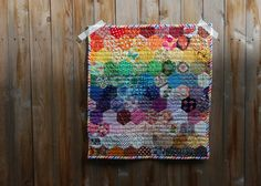 quilt by abby glassenberg Craft Stash, Miniature Quilts, English Paper Piecing, Mini Quilts, Quilt Making, Fabric Crafts, Craft Projects, Crafty, Sewing