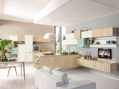 La cucina open space: sempre più di tendenza per chi ha grandi spazi o per chi ama una cucina conviviale in cui cucinare e stare come in un salotto