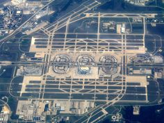 Aerial view of Dallas Fort Worth International Airport. The world's largest…