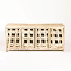 """Lattice console for tv (use as media cabinet) 71"""" long x 31.5"""" high x 20"""" deep"""