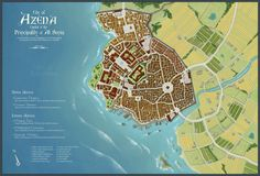 Please click the download button to view the full map. I've always wanted to do a city map ever since I made the map of Al Senia (Edit: I redid the Map of Al Senia, check it out!), a...