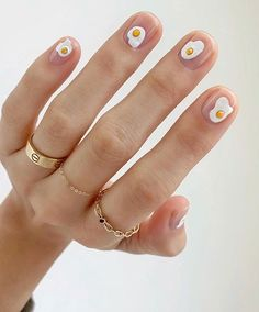 the stunning summer nail art designs for short nails 74 ~ thereds.me - - the stunning summer nail art designs for short nails 74 ~ thereds. Cute Acrylic Nails, Cute Nails, Pretty Nails, My Nails, Long Nails, Cute Short Nails, Nail Art Designs, Short Nail Designs, Nails Design