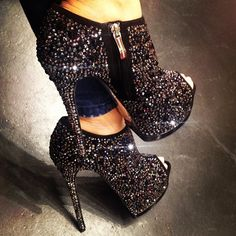 Gianmarco lorenzi pave black diamonds #gianmarcolorenzi #boots #shoes #strass... | Webstagram