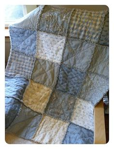 easy baby quilt -- I love the raised junctions, but I would use different colors and could also use smaller squares