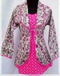 Desain Baju Kerja Batik Wanita Modern Terbaru Wanita
