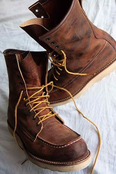 Red Wing boots... Better with age.