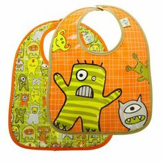Sugarbooger Mini Bib Gift Set, Set of 2, Hungry Monsters