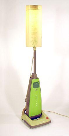 Vac-Bag Shaded Hoover Floor Lamp  (de: hoover hard body upright vacuum cleaner, vacuum bag & bulbs)