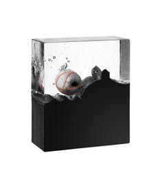 """Limited art glass """"Landing"""" by Bertil Vallien for Kosta Boda"""