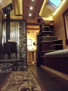 Log Tiny House – using log timber in Colorado | pinned by haw-creek.com