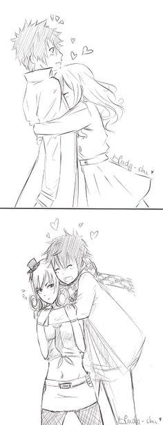 Gruvia : regardless of the world, they will always love each others x ')
