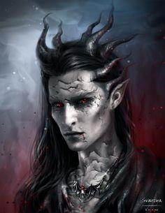 Portrait of Svartya by Kaprriss by Svartya on DeviantArt Fantasy Portraits, Character Portraits, Character Art, Male Vampire, Vampire Art, Fantasy Races, Fantasy Warrior, Dungeons And Dragons Characters, Fantasy Characters