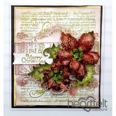 Heartfelt Creations - Red Poinsettias Merry Christmas Project