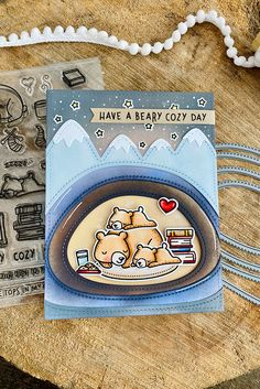 Just ME: Hibernating (Lawn Fawn Fall/Winter new release week!) Winter Cards, Holiday Cards, Christmas Cards, Fall Cards, Lawn Fawn Blog, Simple Snowflake, Paper Craft Making, Snow Much Fun, Lawn Fawn Stamps