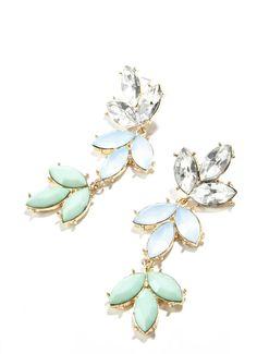 Multi-drop & color earrings.