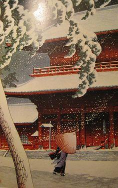 KAWASE HASUI - SNOW STORM