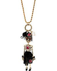 Creepshow Skull Girl Necklace  / New Jewelry from Betsey Johnson