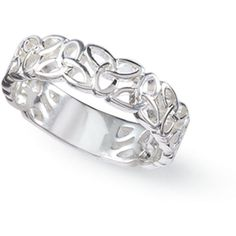 Sterling Silver Trinity Knot Band Ring Size 10 ($30) ❤ liked on Polyvore featuring jewelry, rings, accessories, celtic jewellery, band jewelry, celtic knot ring, sterling silver band rings and celtic jewelry
