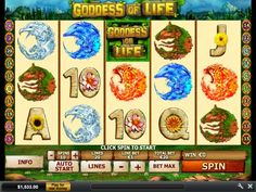 Play Goddess of Life from Playtech to be blessed with sparkling gems from the Crystal Cavern when you please her. She may also grant you Temple of Life Free Spins, which can go on infinitely (its a mathematical possibility, not a promise). This game has 5 reels and 20 paylines.